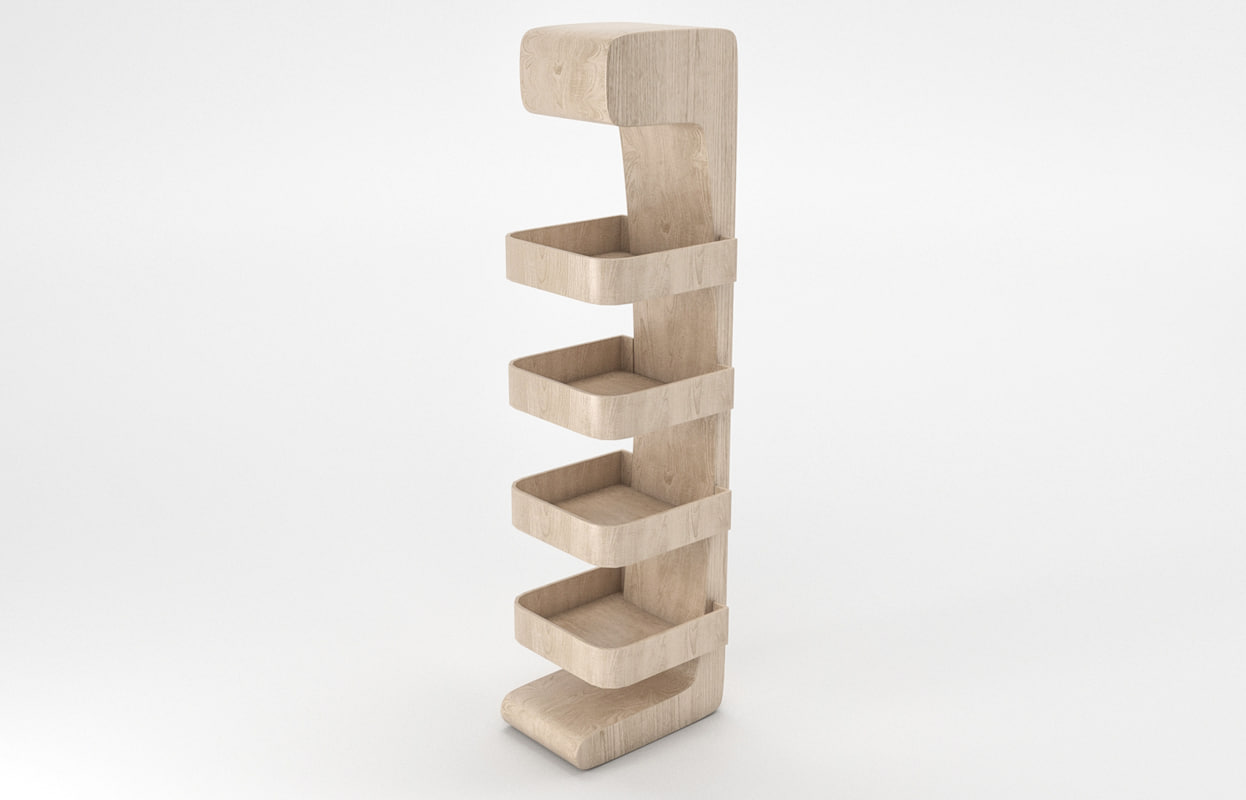 wood stand 3D model
