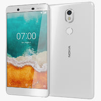 realistic nokia 7 white 3D model