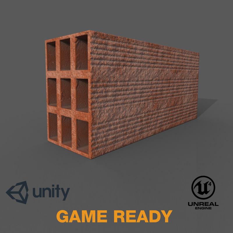 realistic brick ready pbr 3D model