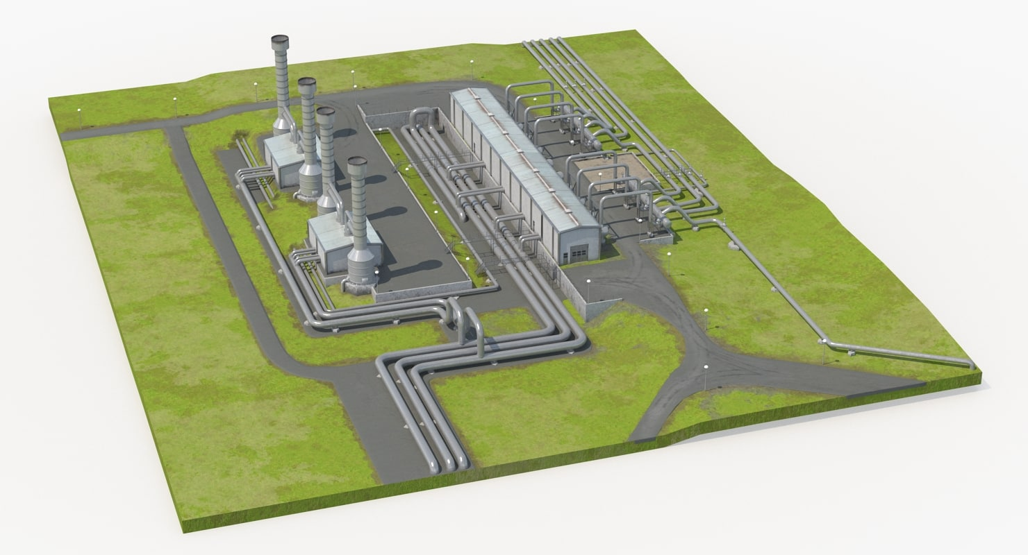 Geothermal Power Plant Model Turbosquid 1260647 Diagram
