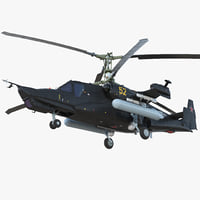 3D kamov ka-52 alligator russian