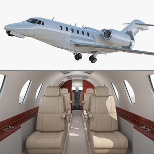 3D medium sized business jet model