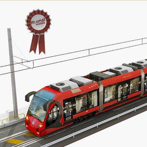 tram railway 3D model