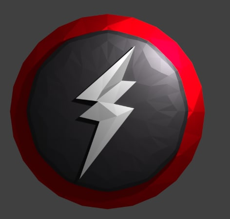 3D model lightning badge logo