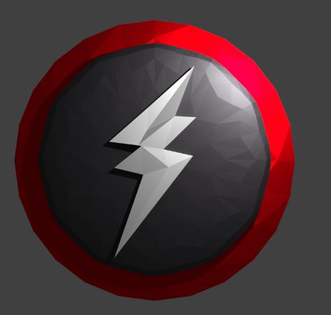 3D model lightning badge logo