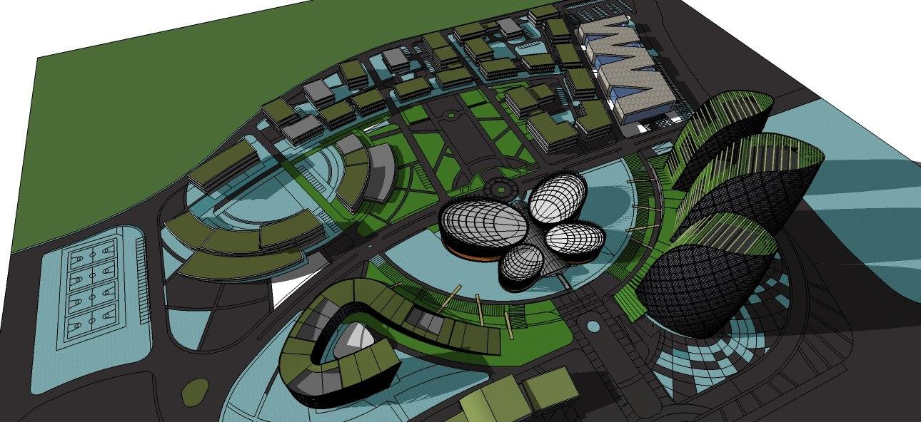 architectural office buildings 3D