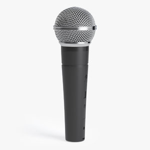classic vocal microphone 3D model