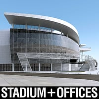 warriors sports exterior 3D