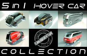 5 1 cool hover car 3D model