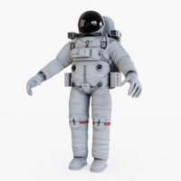 3D astronaut rigged animations model