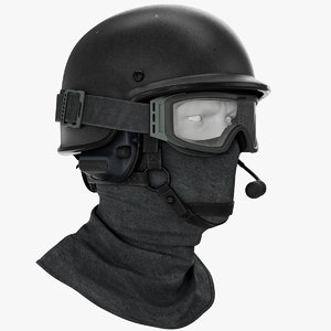 police ballistic helmet 3D