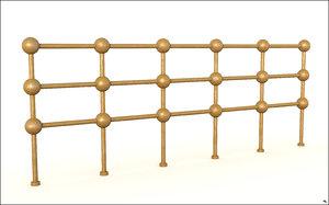 gold fence 3D model