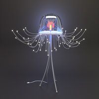 jellyfish lamp spira mirabilis 3D model