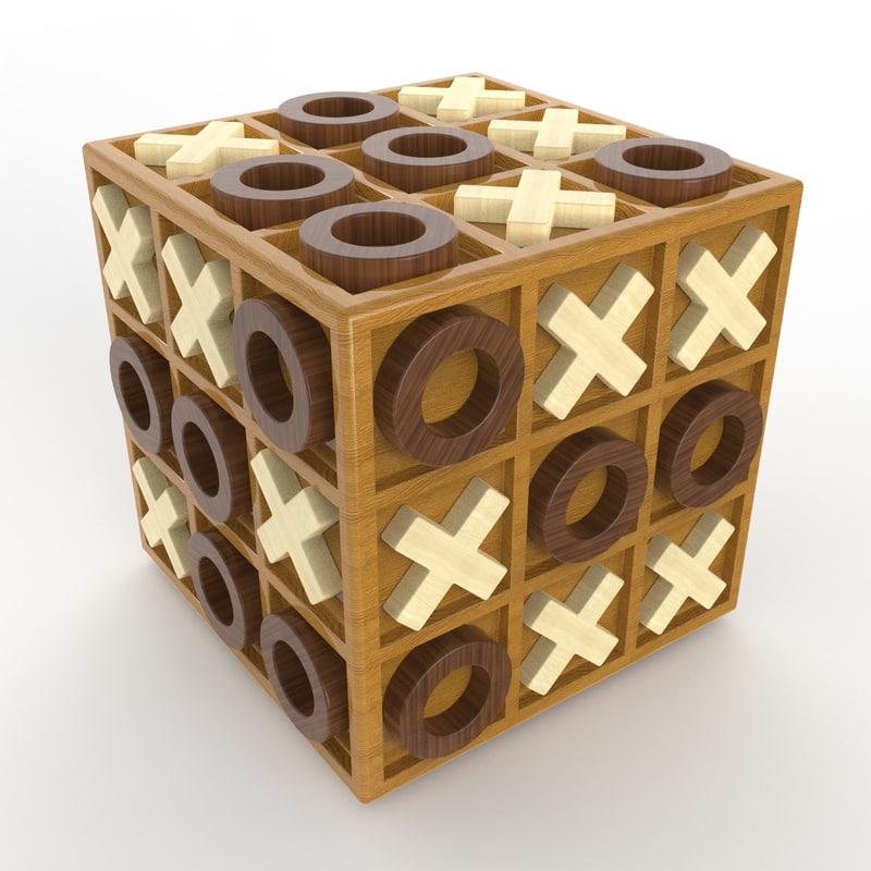 cubic tic-tac-toe 3D model