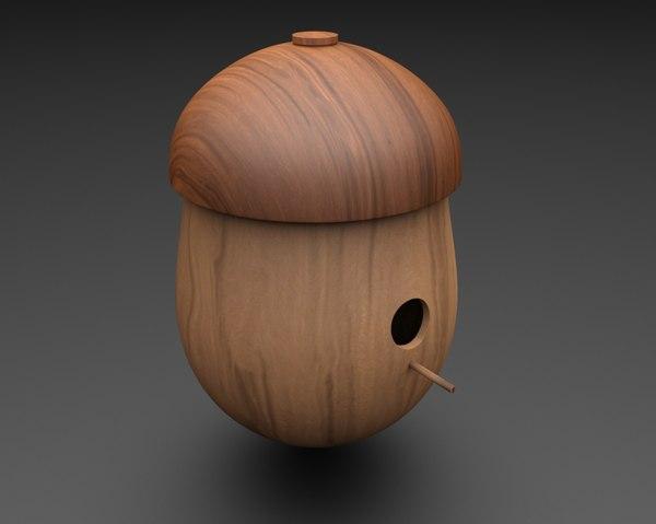 3D model acorn birdhouse