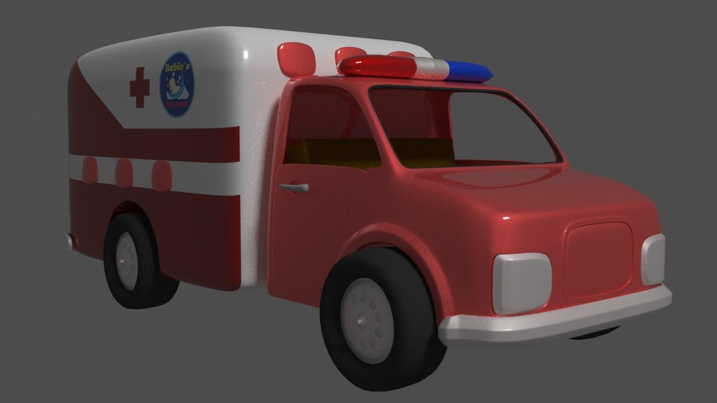 ambulance toy 3D model