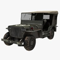 willys army 3D model