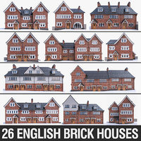 English Brick Houses Collection - 26 Pack