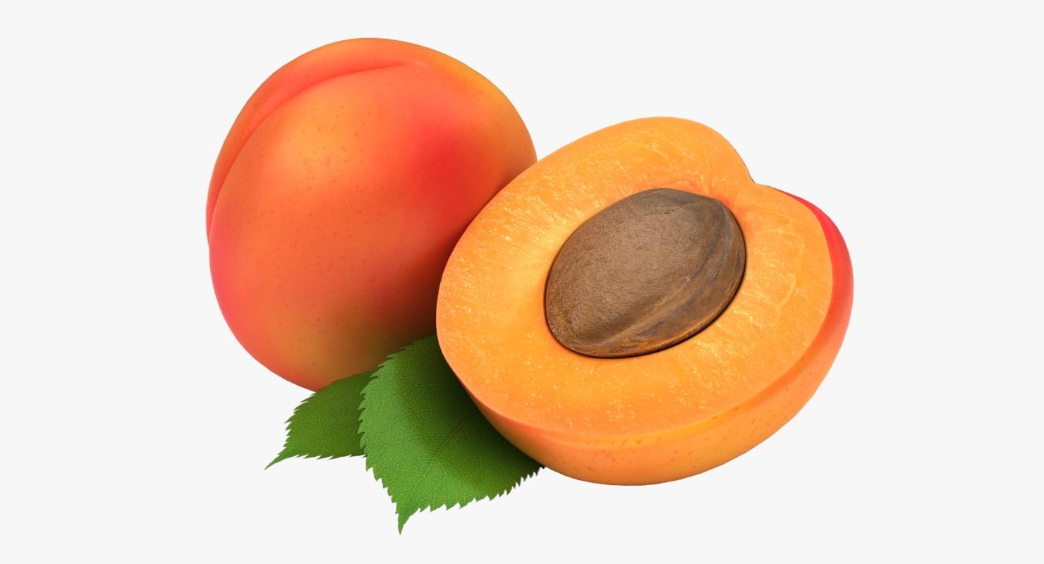3D realistic apricot 02 color