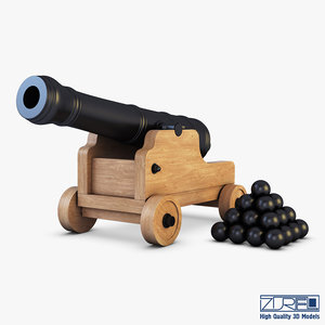 ancient cannon 3D model