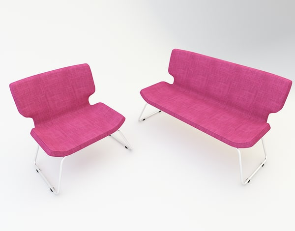 3D modern waiting chair