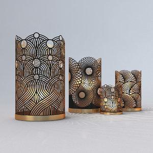3D openwork light model