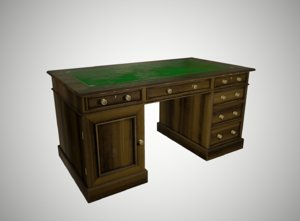 desk antique 3D model