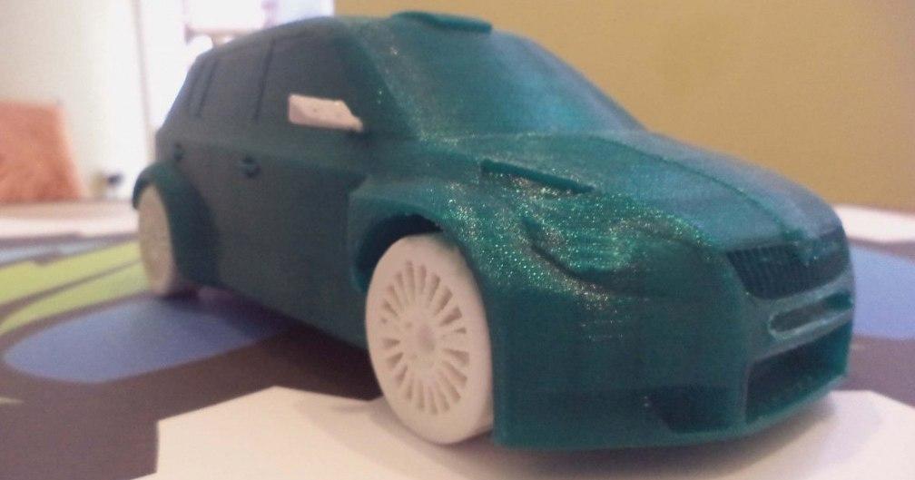 3D car fabia s2000 wrc