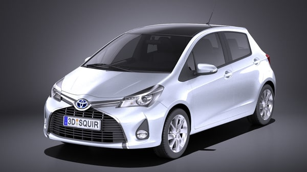 2016 toyota yaris 3D model