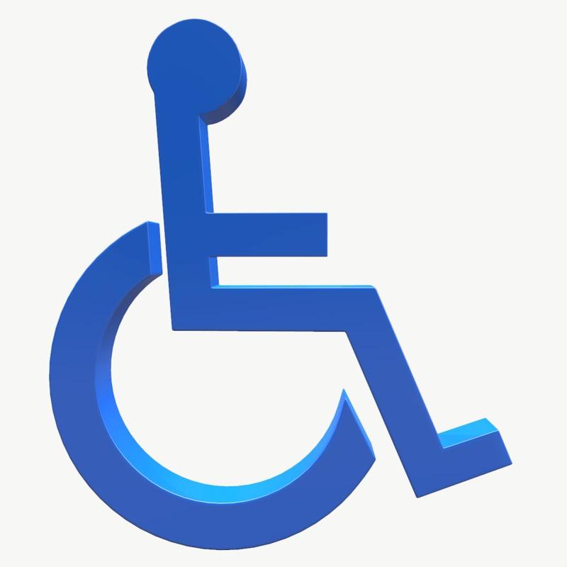 Wheelchair Logo 3d Model Turbosquid 1260833