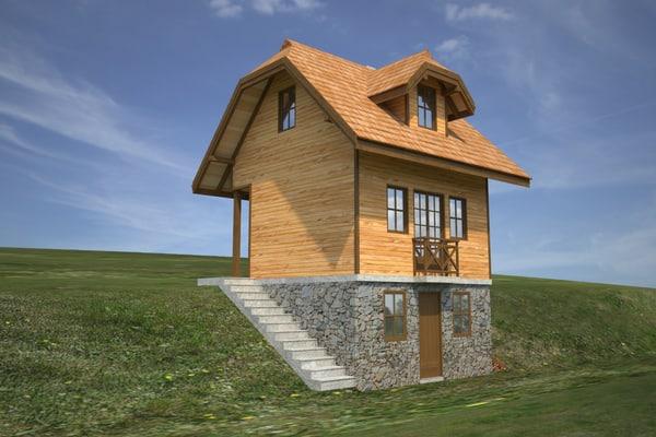 tara wood house 3D