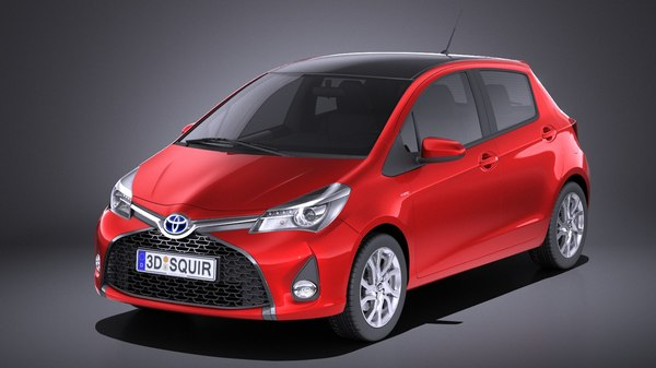 2016 toyota hatchback 3D model