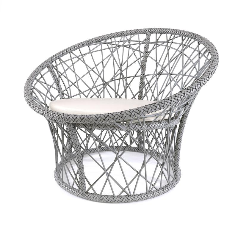 3D wicker outdoor chair
