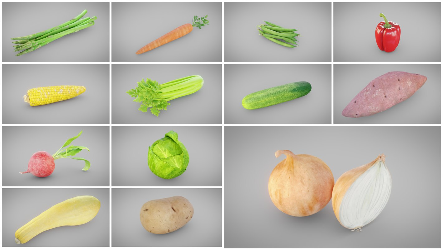 3D vegetable model