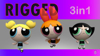 Powerpuff Girl Set