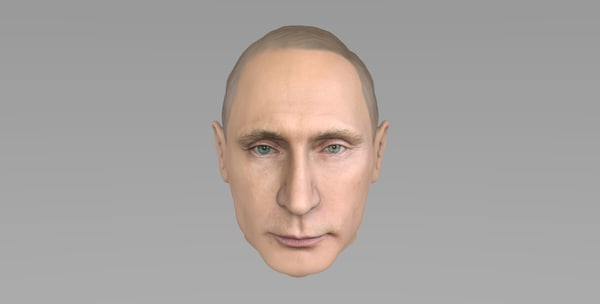 head vladimir putin 3D model
