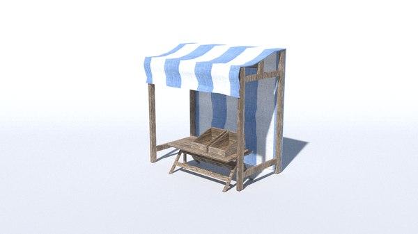 3D medieval stand model