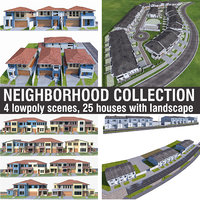 Neighborhood Houses Collection - 4 Pack