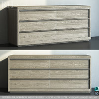 restoration bezier 6-drawer wide 3D model