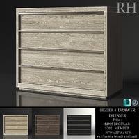 restoration bezier 4-drawer dresser model