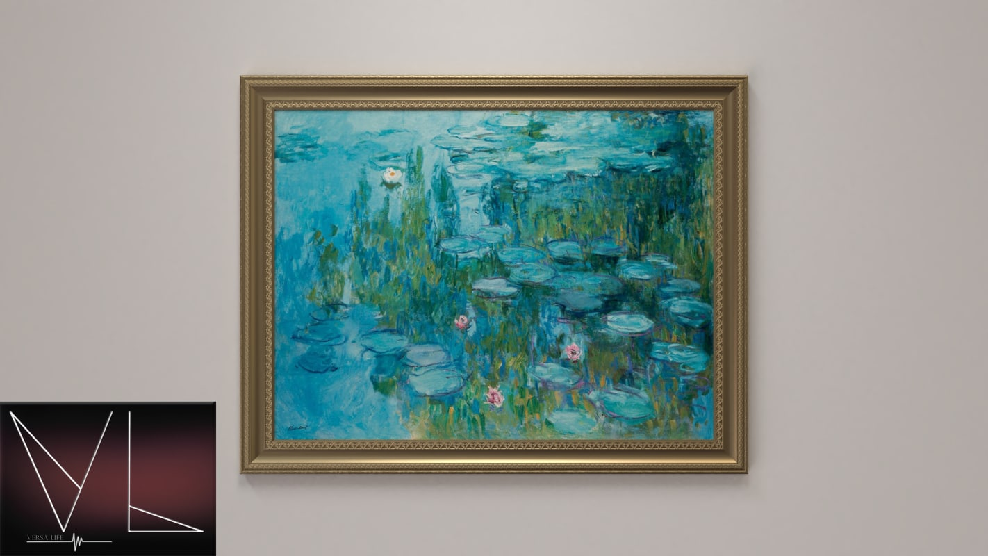 3D painting water lilies