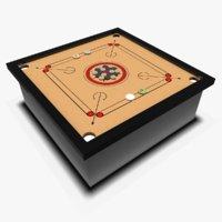 carrom board coin 3D model