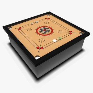 carrom board coin 3D model