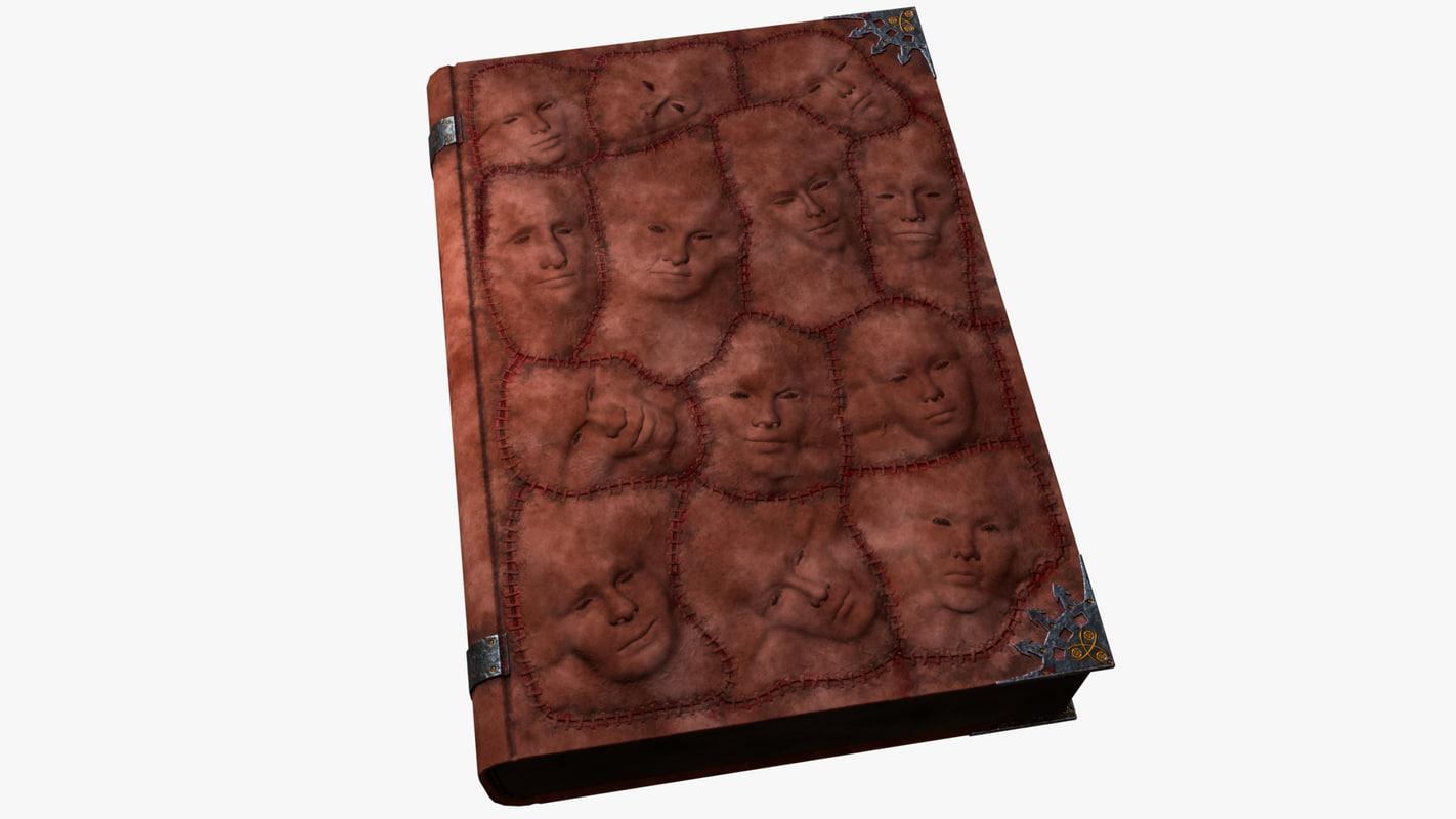 demonic book 3D model