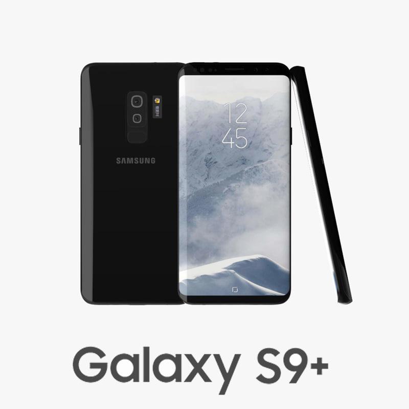 3D samsung galaxy s9 black
