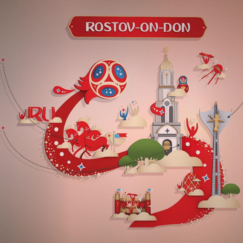 russia host city rostov 3D