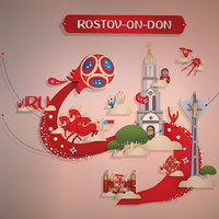 russia host city rostov 3D