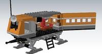 3D autocad lego model