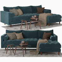 3D sven sectional sofa