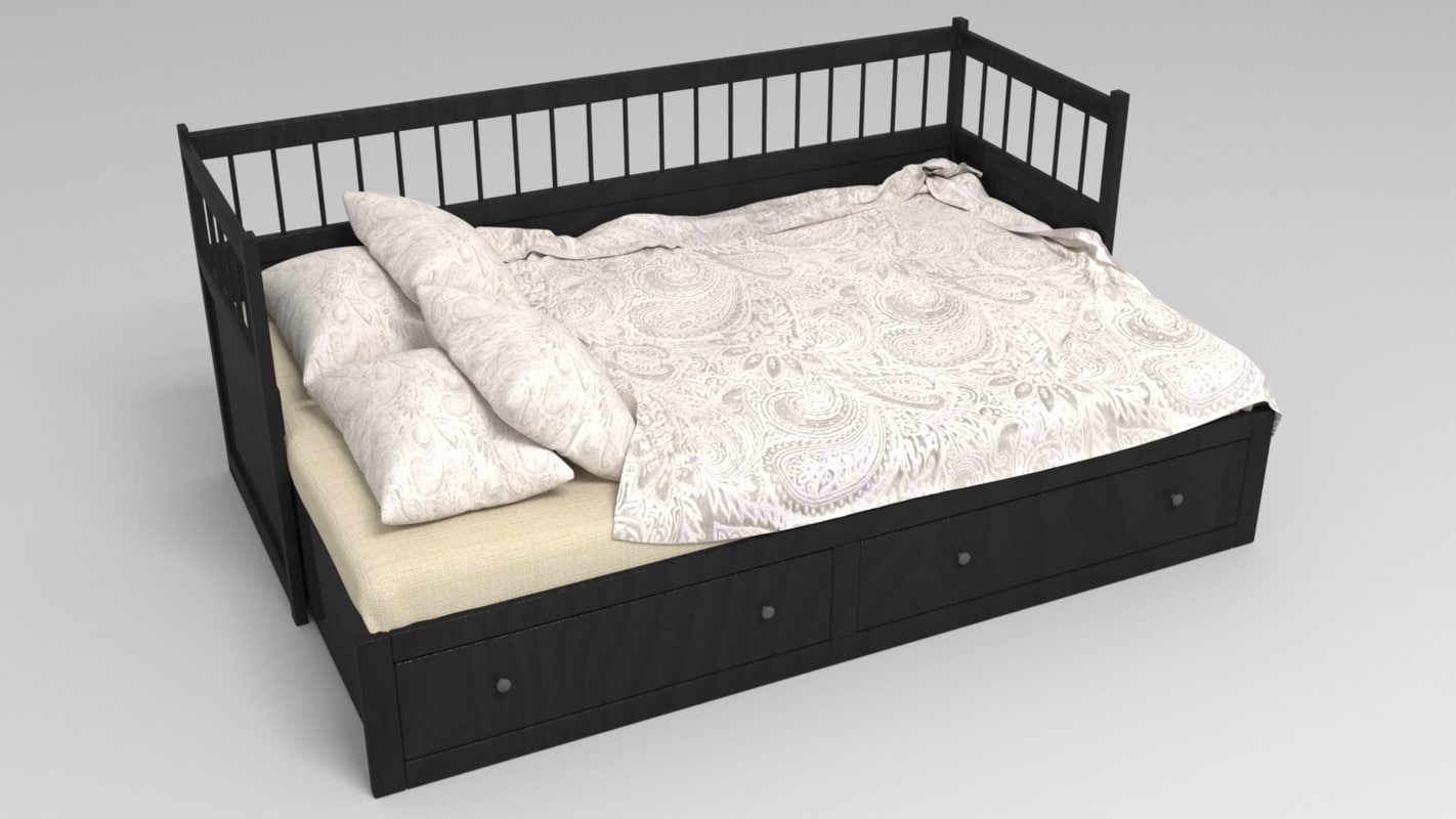 bed ikea 3d model turbosquid 1260943. Black Bedroom Furniture Sets. Home Design Ideas